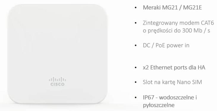 Exanet MG21 Meraki bramka GSM