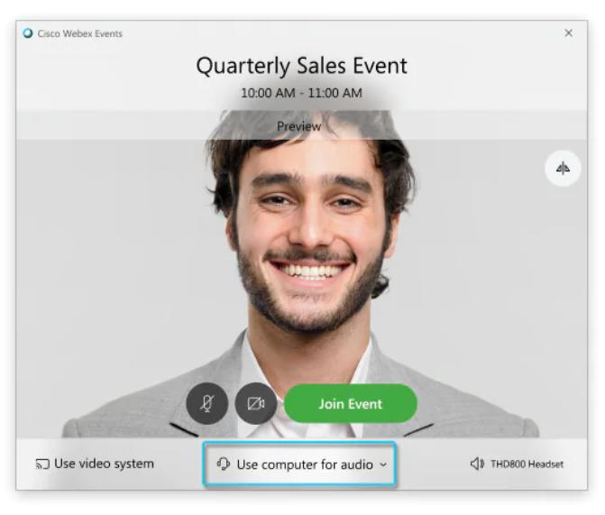 Exanet Cisco Events choose audio